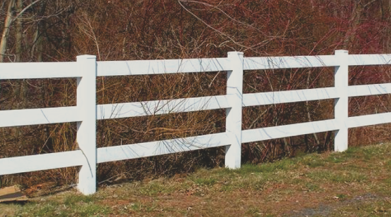 Vinyl fencing is a great material because is a very strong and durable product. Vinyl requires little to no maintenance and can last a very long time on any property. Vinyl comes in many different colors and many different fence styles.